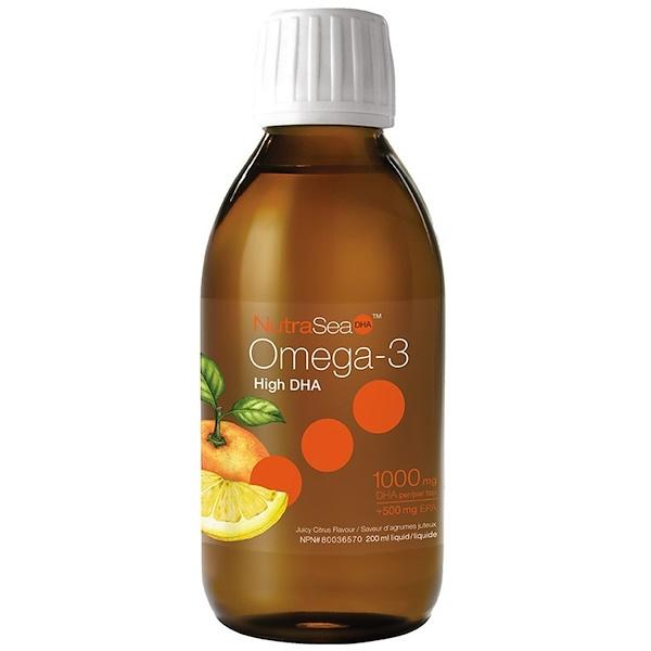 Ascenta, NutraSea, омега-3 с высоким содержанием ДГК, со вкусом сочных цитрусов, 6,8 жидкой унции (200 мл) (Discontinued Item)