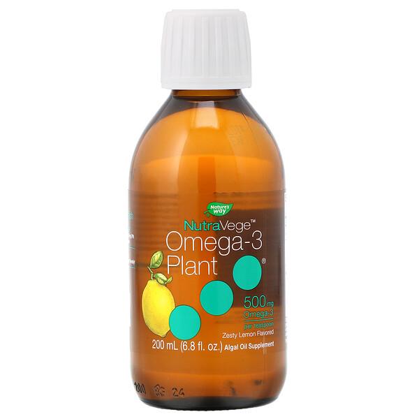 Ascenta, NutraVege, растительный источник омега-3, пикантный лимон, 500мг, 200мл (6,8жидк.унции) (Discontinued Item)