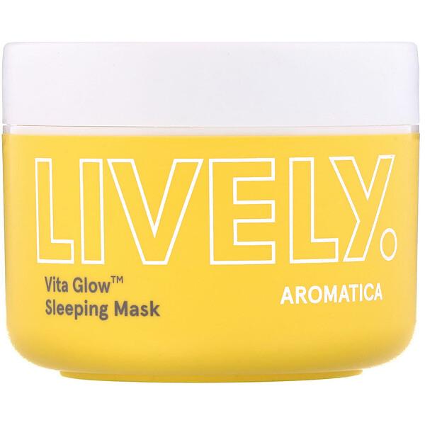 Aromatica, Lively, Vita Glow, Sleeping Mask, 3.5 oz (100 g) (Discontinued Item)