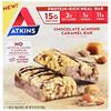 Atkins, Баточник для перекуса, батончик с шоколадом, миндалем и карамелью, 5 батончиков, по 1,69 унции (48 г) каждый