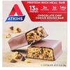 Atkins, Замена приема пищи, батончик со вкусом шоколадного печенья, 5батончиков по 60г (2,12унции)