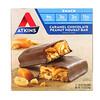 Atkins, Снек, карамельно-шоколадный батончик с арахисом и нугой, 5 батончиков, по 1,6 унции (44 г) каждый
