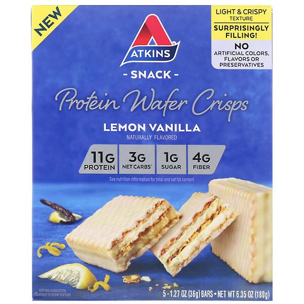Протеиновые вафли, лимон и ваниль, 5шт., 36г каждая