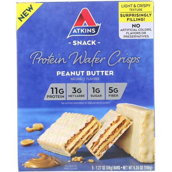 Протеиновые вафли, арахисовая паста, 5шт., 36г каждая