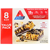 Atkins, Meal Bar, Chocolate Chip Granola Bar, 8 Bars, 1.69 oz (48 g)