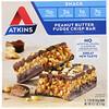Atkins, Снек, батончик с помадкой с арахисовым маслом, 5 батончиков, весом 35 г (1,2 унции) каждый