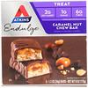 Atkins, Endulge, батончик с карамелью и орехами, 5 батончиков, 34 г каждый