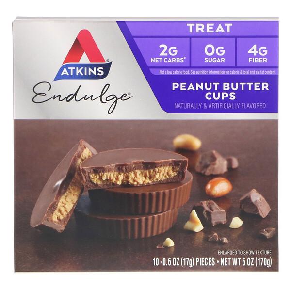 Endulge, чашечки с арахисовым маслом, 5 упаковок, 34 г каждая