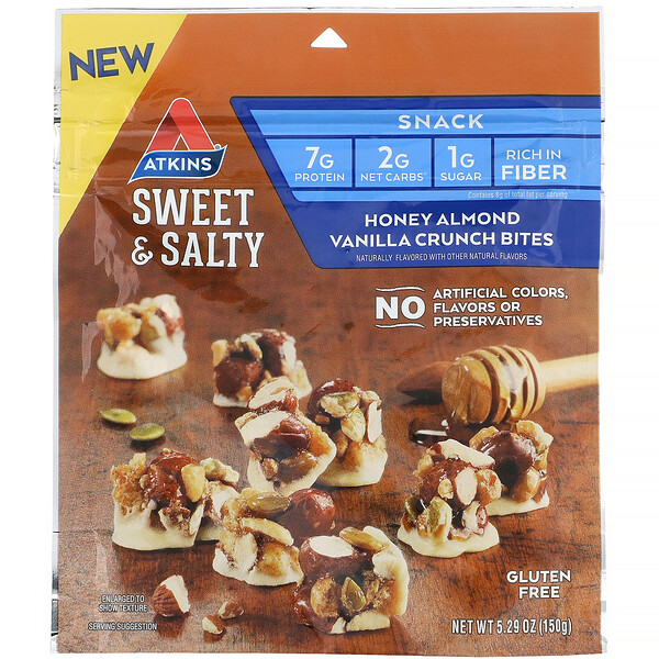 Sweet & Salty Snacks, Honey Almond Vanilla Crunch Bites, 5.29 oz (150 g)