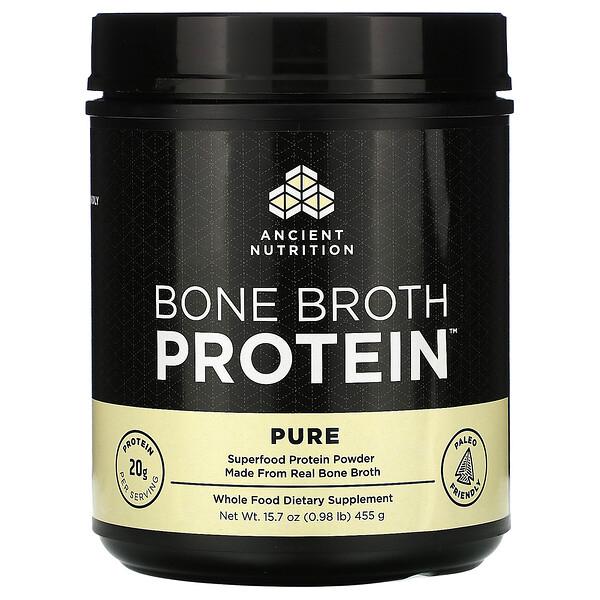 Bone Broth Protein, Pure, 0.98 lb (455 g)
