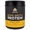 """Dr. Axe / Ancient Nutrition, """"Белок костного бульона"""", белковый порошок со вкусом бананового крема, 17,3 унции (490 г)"""