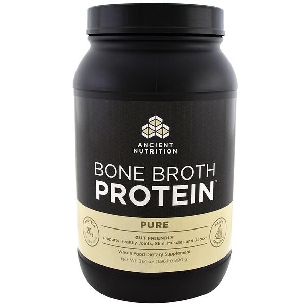 Bone Broth Protein, чистый белок, 890 г (1,96 фунта)