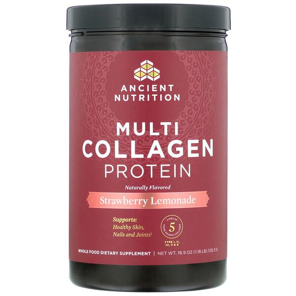 Multi Collagen Protein, Strawberry Lemonade, 1.18 lbs (535.5  g)