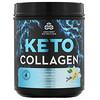 Dr. Axe / Ancient Nutrition, Keto Collagen, протеин с коллагеном+кокосовые среднецепочечные триглицериды, ваниль, 415г (14,6унции)