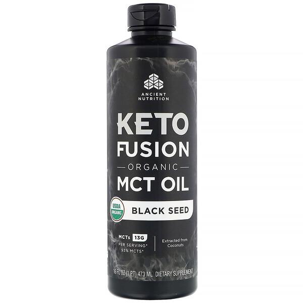 Keto Fusion, органическое масло с MCT, черный тмин, 473мл (16жидк.унций)