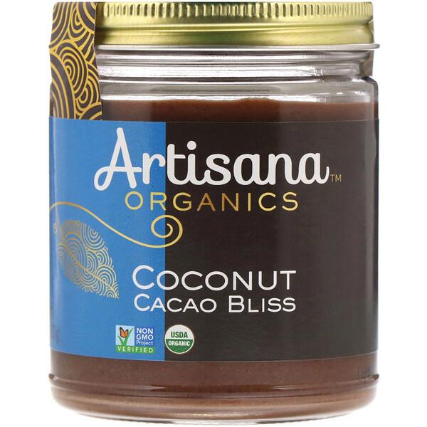 Organics, сырое кокосовое какао-блаженство, ореховое масло, 227 г (8 унций)