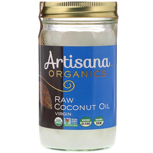 Organics, сырое кокосовое масло, первого отжима, 414 г (14 унций)