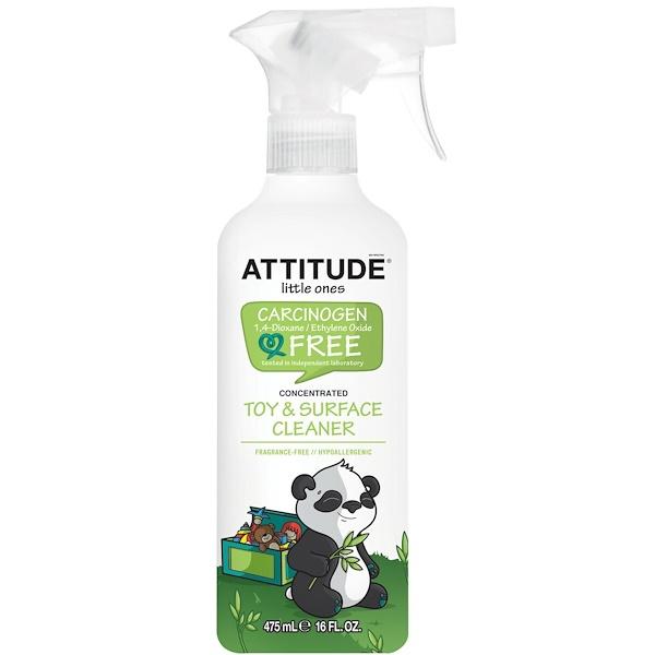 ATTITUDE, Little Ones, очиститель для игрушек и  поверхностей, концентрированный, без ароматизаторов, 16 жидких унций (475 мл) (Discontinued Item)