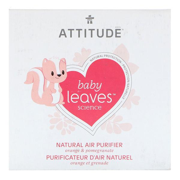 ATTITUDE, Baby Leaves Science, натуральный освежитель воздуха, апельсин + гранат, 8 унций (227 г) (Discontinued Item)