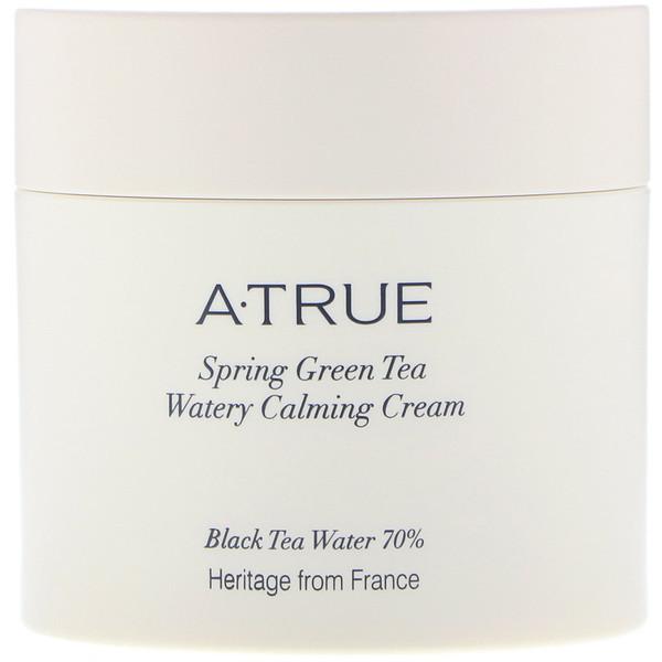 ATrue, Увлажняющий успокаивающий крем с весенним зеленым чаем, 2,82 унц. (80 г) (Discontinued Item)