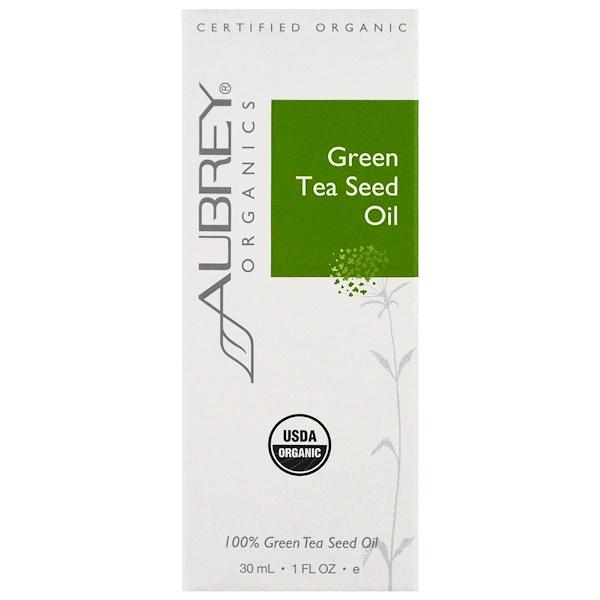 Aubrey Organics, Organic, масло из семян зеленого чая, 1 жид.унц. (30 мл.) (Discontinued Item)