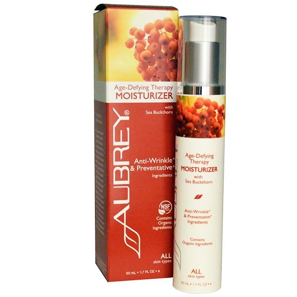 Aubrey Organics, Антивозрастная терапия, увлажняющий крем для всех типов кожи, 50 мл (Discontinued Item)