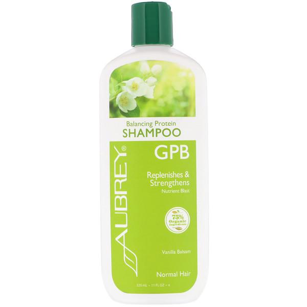 GPB Balancing Protein Shampoo, Normal Hair, Vanilla Balsam, 11 fl oz (325 ml)