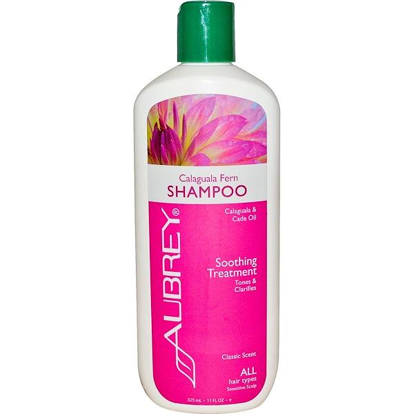 Aubrey Organics, Шампунь с экстрактом папоротника, Восстановление, для всех типов волос, 11 жидких унций (325 мл) (Discontinued Item)