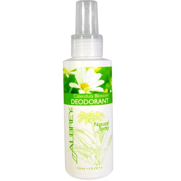 Цветок календулы, дезодорант, натуральный спрей, 4 жидкие унции (118 мл)