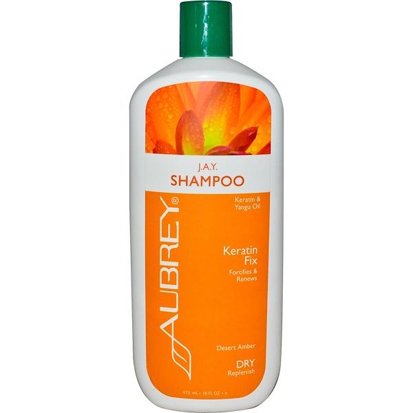 Aubrey Organics, J.A.Y. Desert Herb, Восстанавливающий шампунь, для сухих/поврежденных волос, 16 жидких унций (473 мл) (Discontinued Item)