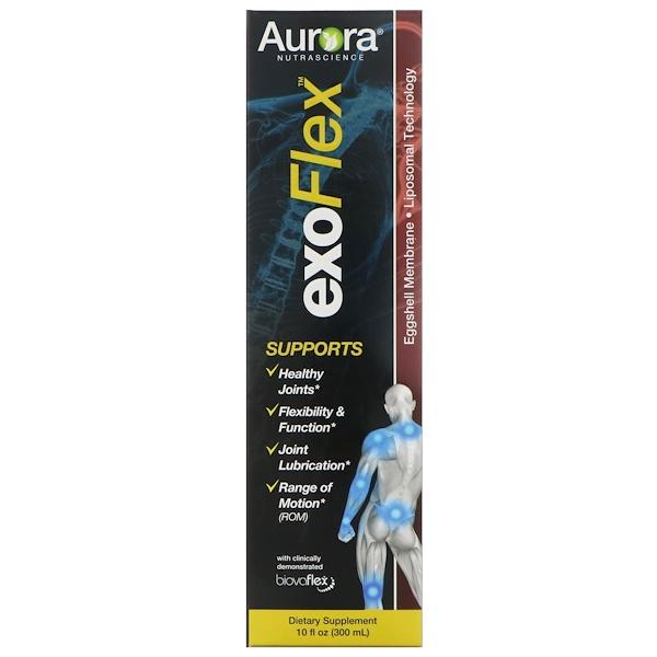 Aurora Nutrascience, exoFlex, Мембрана из яичной скорлупы, Липосомная технология, 10 ж. унц.(300 мл) (Discontinued Item)