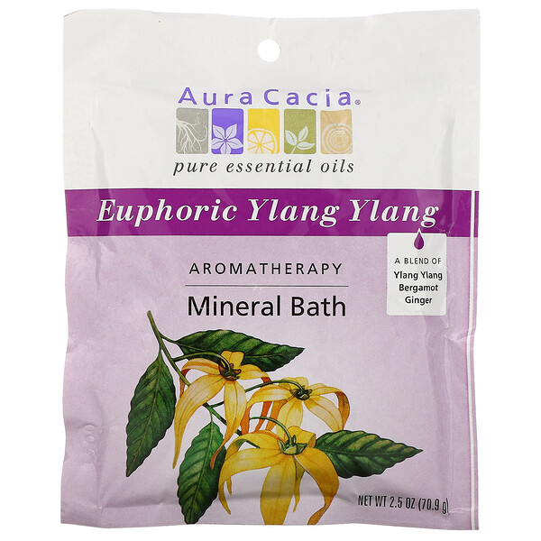 Ароматерапевтическая минеральная ванна, Euphoric Ylang Ylang, 70.9 г