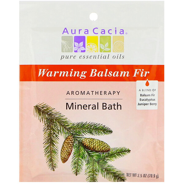 Ароматерапевтическое минеральное средство для ванны, согревающая бальзамическая пихта, 2,5 унции (70,9 г)
