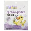 Aura Cacia, Успокаивающая пена для ванны с эфирным маслом лаванды, 2,5 унции (70,9 г)