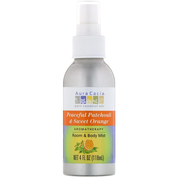 Aromatherapy Room & Body Mist, Peaceful Patchouli & Sweet Orange, 4 fl oz (118 ml)