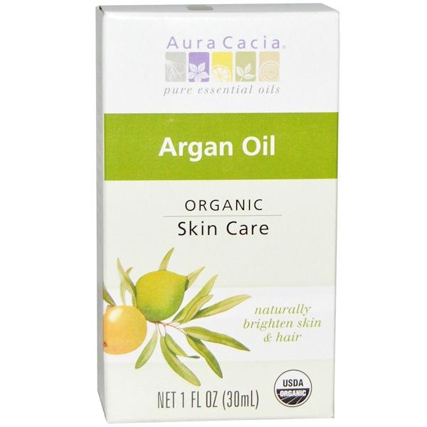 Aura Cacia, Органическое аргановое масло, 1 жидкая унция (30 мл) (Discontinued Item)