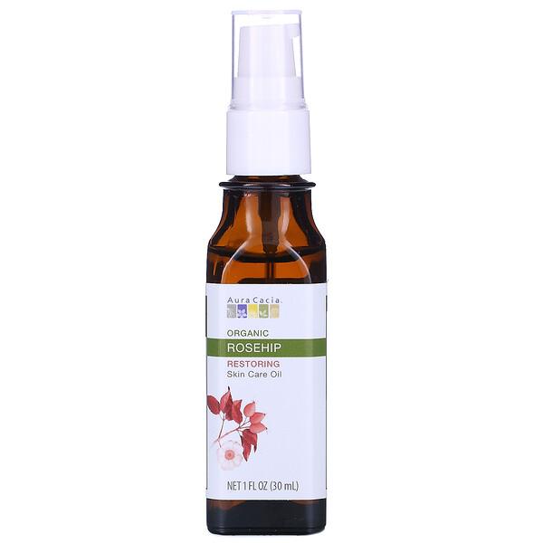 Органическое уходовое масло для кожи, Restoring, шиповник, 1 ж. унц. (30 мл)