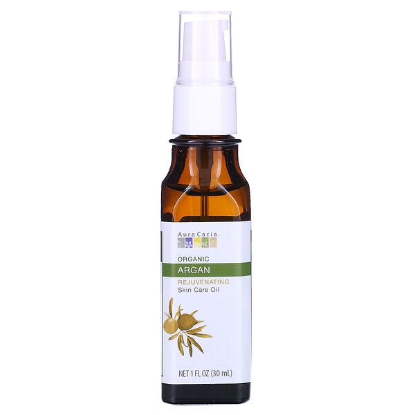 Органическое уходовое масло для кожи, омолаживающее, аргана, 1 ж. унц. (30 мл)