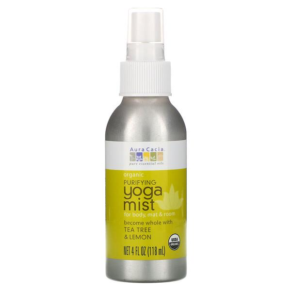 Organic, аэрозоль для йоги, очищающий, чайное дерево и лимон, 4 жидких унции (118 мл)