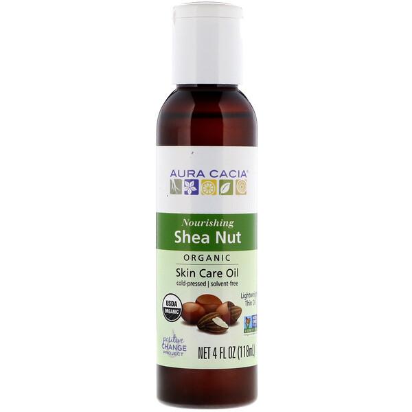 Organic, Skin Care Oil, Shea Nut, 4 fl oz (118 ml)