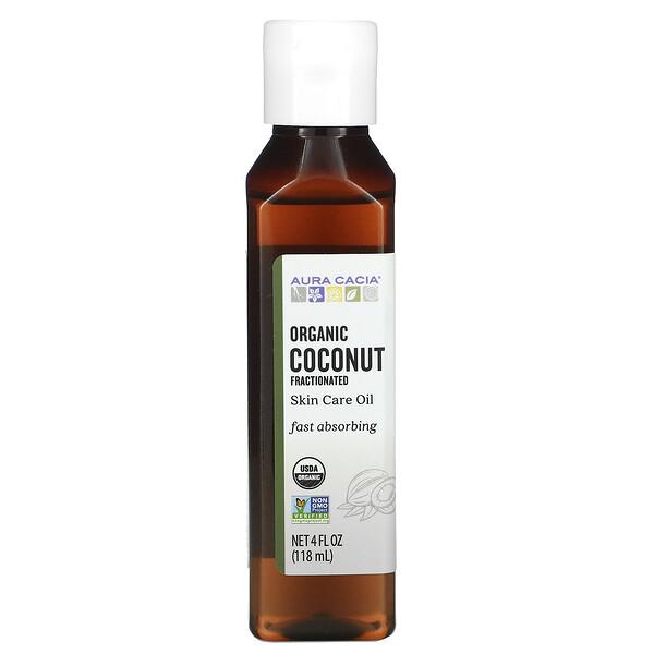 Aura Cacia, Органическое масло для тела, фракционированное кокосовое масло, 118мл