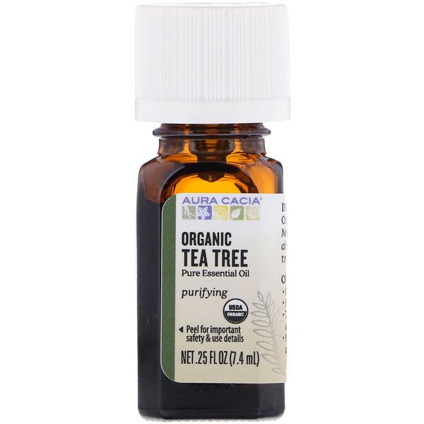 Органическое, чайное дерево, 0,25 жидких унций (7,4 мл)
