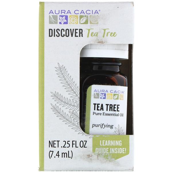 Aura Cacia, Discover Tea Tree, .25 fl oz (7.4 ml) (Discontinued Item)
