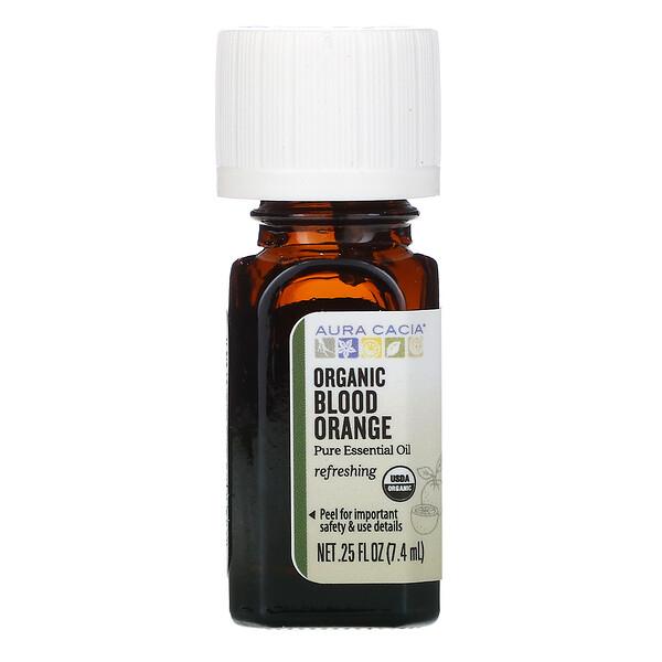 Чистое эфирное масло, органический красный апельсин, 7,4мл (0,25жидк.унции)