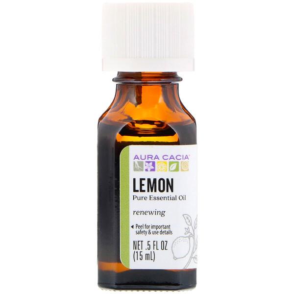 Pure Essential Oil, Lemon, .5 fl oz (15 ml)