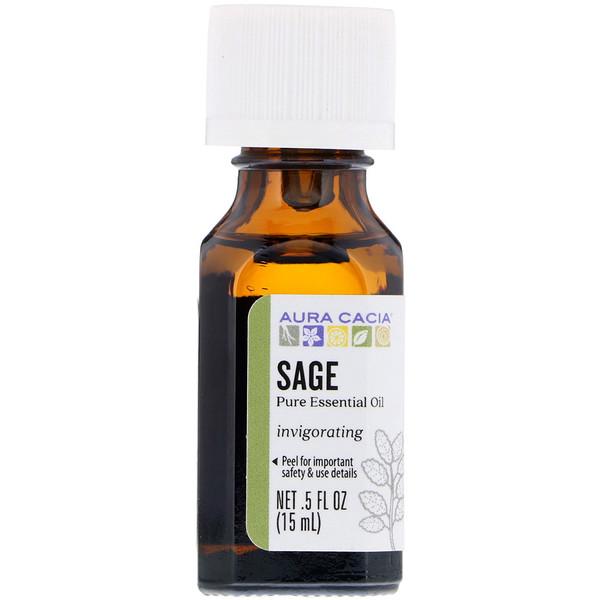 Pure Essential Oil, Sage, .5 fl oz (15 ml)