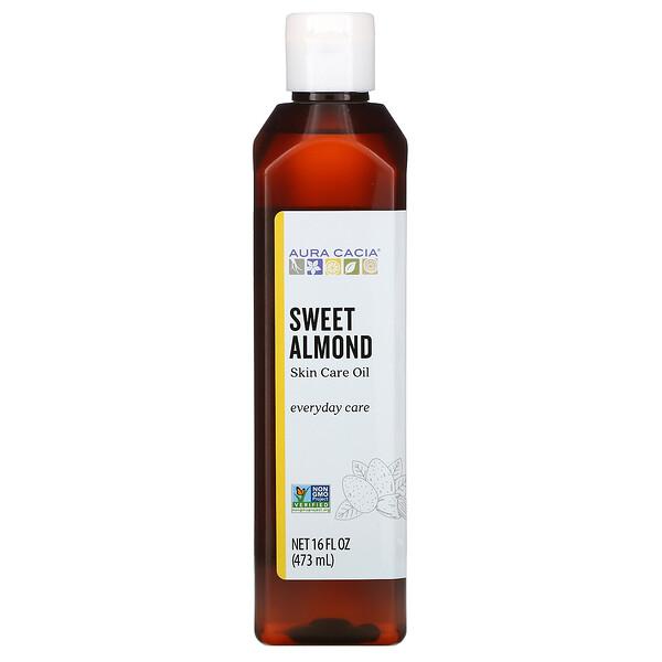 Skin Care Oil, Sweet Almond, 16 fl oz (473 ml)