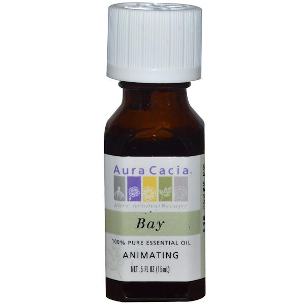 Aura Cacia, 100% эфирное масло лавра, тонизирующее, 15 мл (Discontinued Item)