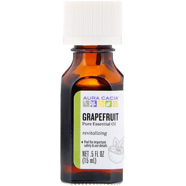 100% чистое эфирное масло, грейпфрут, 0.5 жидких унций (15 мл)