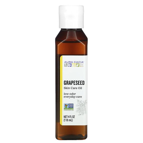 Skin Care Oil,  Grapeseed, 4 fl oz (118 ml)